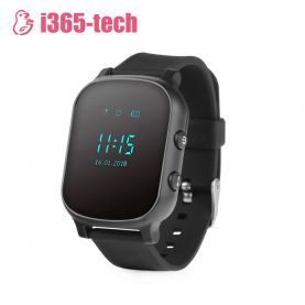 Ceas Smartwatch Pentru Copii i365-Tech T58 cu Functie Telefon, Localizare GPS, Istoric traseu, Apel de Monitorizare, Negru