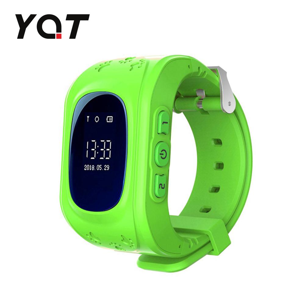 Ceas Smartwatch Pentru Copii YQT Q50 cu Functie Telefon, Localizare GPS, SOS - Verde, Cartela SIM Cadou
