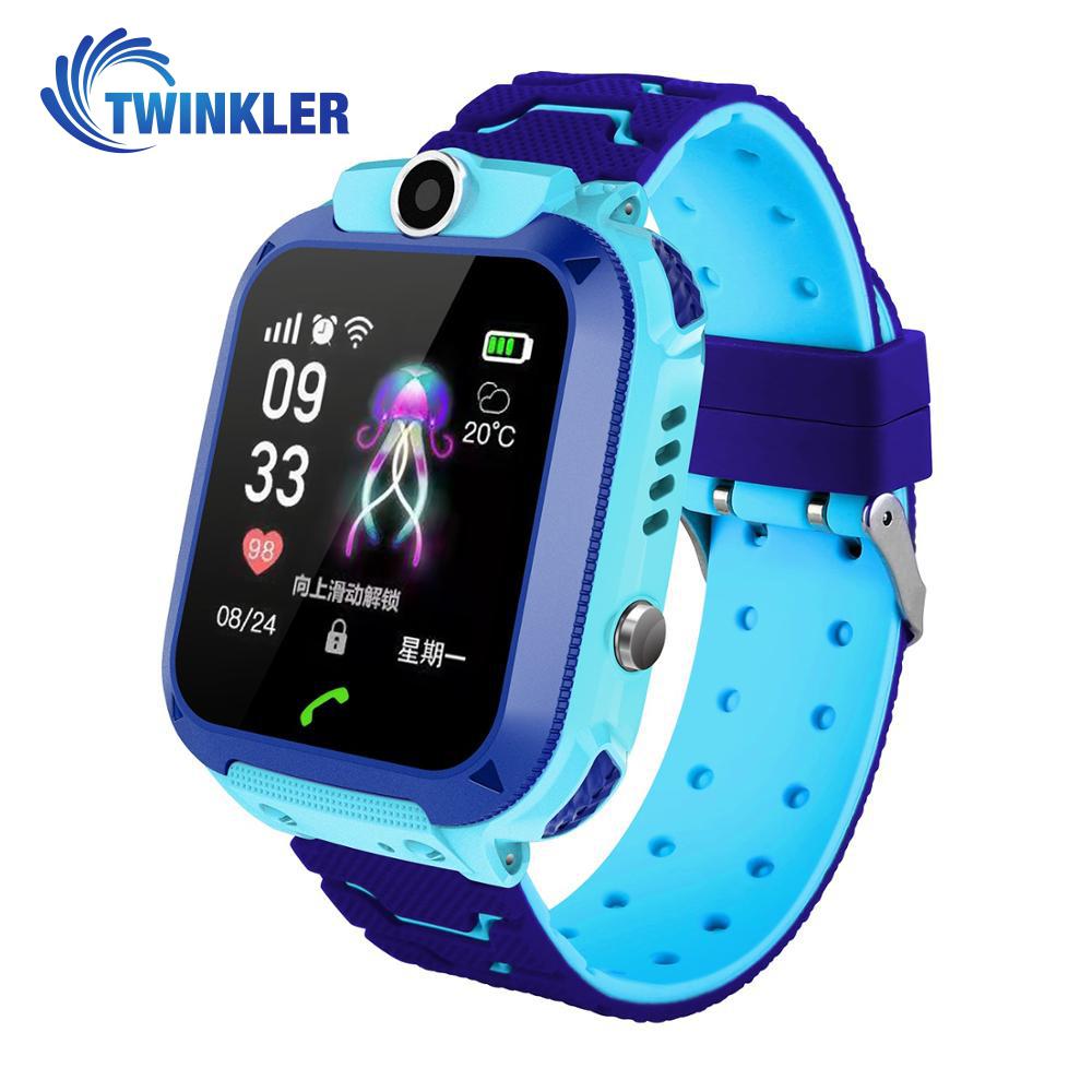 Ceas Smartwatch Pentru Copii Twinkler TKY-Q13 cu Functie Telefon, Localizare GPS, Istoric traseu, Apel de Monitorizare, Camera, Joc Matematic, Albastru imagine