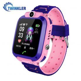 Ceas Smartwatch Pentru Copii Twinkler TKY-Q13 cu Functie Telefon, Localizare GPS, Istoric traseu, Apel de Monitorizare, Camera, Joc Matematic, Roz