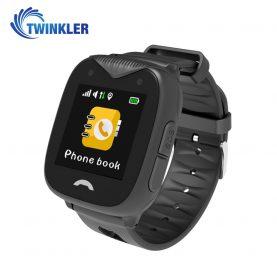 Ceas Smartwatch Pentru Copii Twinkler TKY-GK02 cu Functie Telefon, Localizare GPS, Camera, SOS, Istoric traseu, Apel de Monitorizare, Negru, Cartela SIM Cadou