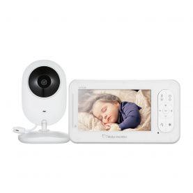 Baby Color Monitor, BS-W230, Camera de supraveghere, Wireless IR, 4.3 inch, Cantece de leagan, 17 dBm