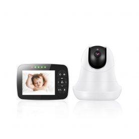 Video Baby Monitor, BS-SM935, Camera de supraveghere 3.5 inch, Wireless, Vedere nocturna, Monitorizare temperatura
