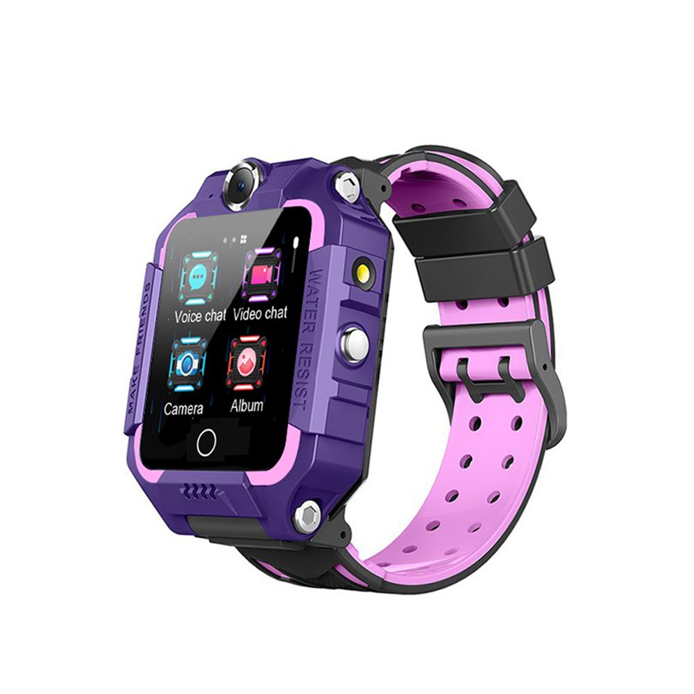 Ceas Smartwatch Pentru Copii YQT T10-360, 4G, GPS, Rotire 360 grade, Apel video, Rezistent la apa, Camera duala, Mov imagine