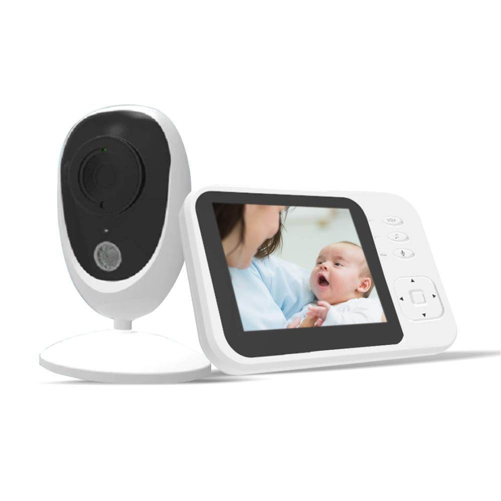 """Video Baby Monitor, BS-SM35, 3.5"""" LCD, 17 dBm, Monitorizare temperatura, Cantece de leagan imagine"""