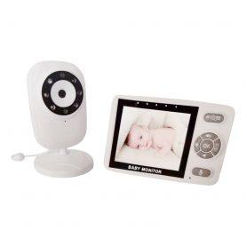 Baby Monitor, BS-835P, 3.5 inch, Wireless, Monitorizare temperatura camera, Comunicare bidirectionala, Cantece de leagan