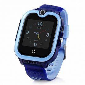 Ceas Smartwatch Pentru Copii, Wonlex KT13, Albastru, SIM card, 4G, Rezistent la stropi IP54, Apel video