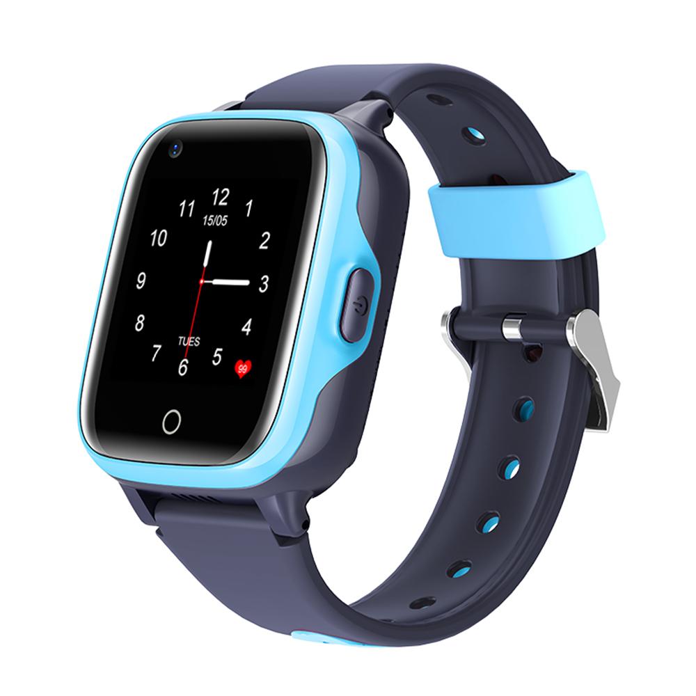 Ceas Smartwatch Pentru Copii, Wonlex KT15, Albastru, SIM card, 4G, Rezistent la apa IP54, Apel video imagine