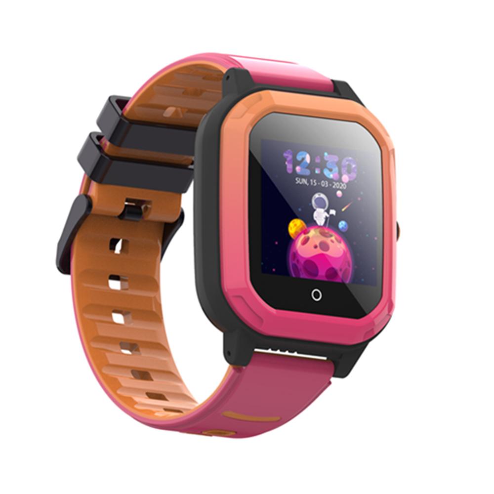 Ceas Smartwatch Pentru Copii, Wonlex KT20, Roz, SIM card, 4G, Rezistent la apa IP54, Apel video imagine