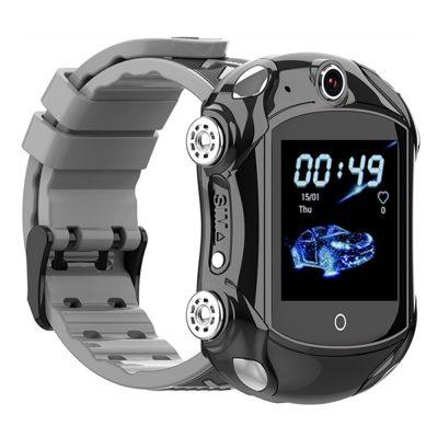Ceas Smartwatch Pentru Copii, Wonlex KT14, Supercar, Negru, SIM card, 4G, Rezistent la stropi accidentali IP54, Apel video