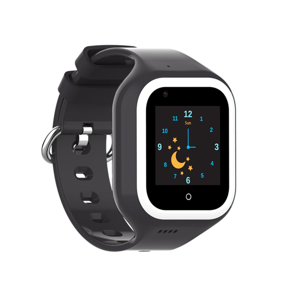 Ceas Smartwatch Pentru Copii, Wonlex KT21, Negru, SIM card, 4G, Rezistent la apa IP54, Apel video imagine