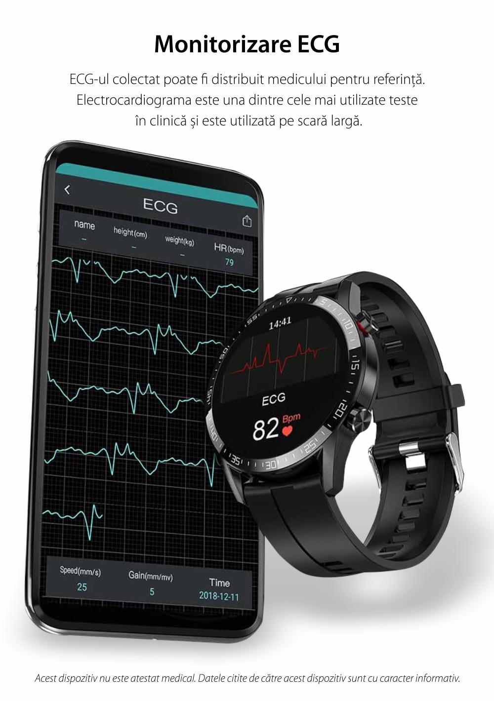 Ceas smartwatch, Twinkler TKY-SW03, Maro, Functie masurarea ritmului cardiac, Rezistenta IP54, Bluetooth