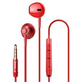 Casti cu fir in-Ear Baseus Encok H06, Rosu, Jack 3.5 mm, NGH06-09