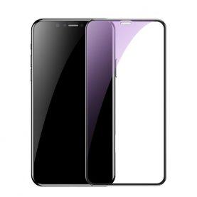 Folie de sticla pentru protectie ecran, Apple iPhone XR, Albastru transparent 0.2 mm