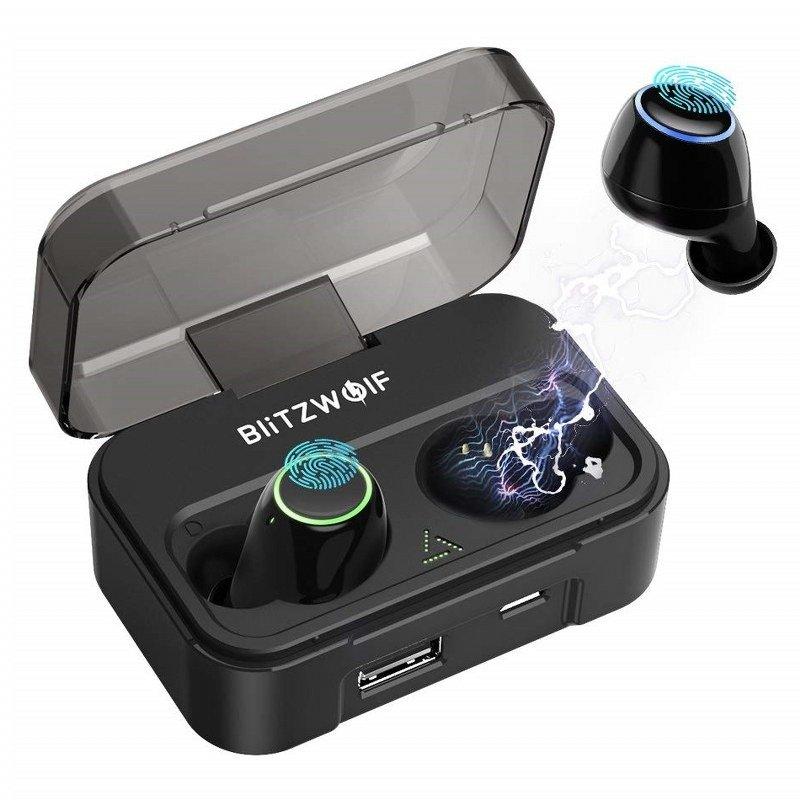 Casti in-Ear BlitzWolf BW-FYE3 TWS, Wireless, Bluetooth 5.0, Baterie 2600 mAh imagine