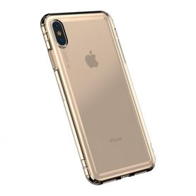 Husa pentru Apple iPhone X / XS, Baseus Safety Airbags Case, Gold, 5.8 inch