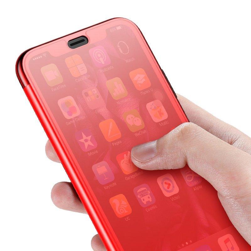 Husa pentru Apple iPhone XS Max, Baseus Touchable Case, Rosu, 6.5 inch imagine