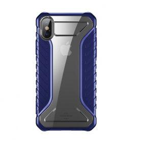 Husa pentru Apple iPhone XS Max, Baseus Michelin Case, Albastru, 6.5 inch