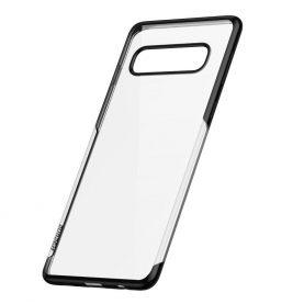 Husa Samsung Galaxy S10, Baseus Shining Case, Transparent / Negru, 6.1 inch