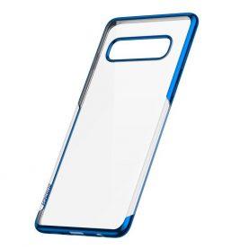 Husa Samsung Galaxy S10, Baseus Shining Case, Transparent / Albastru, 6.1 inch