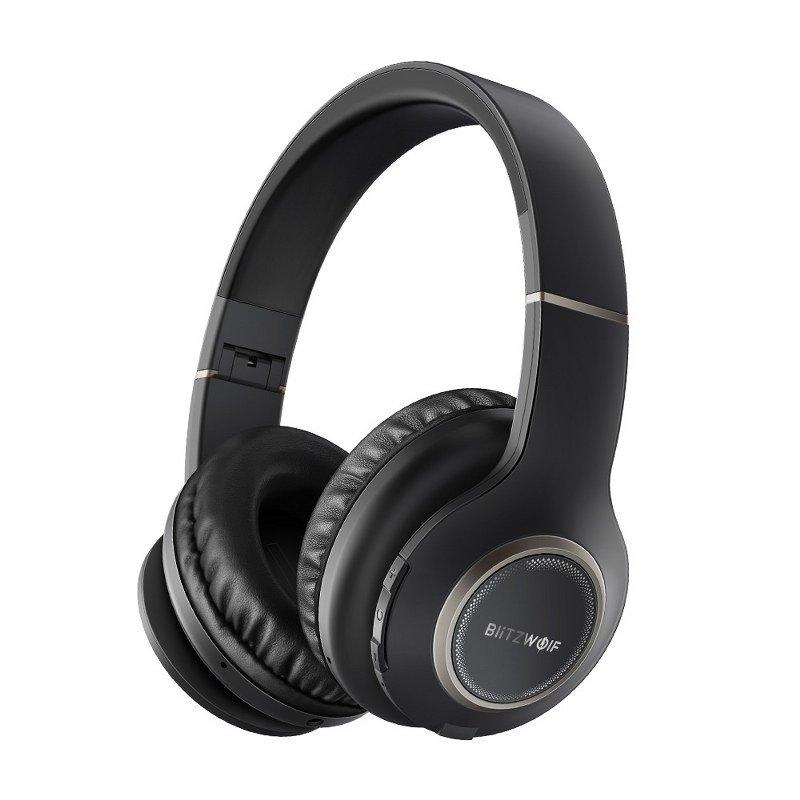 Casti over Ear BlitzWolf BW-HP0, Bluetooth 4.1, Wireless, Baterie 400 mAh imagine