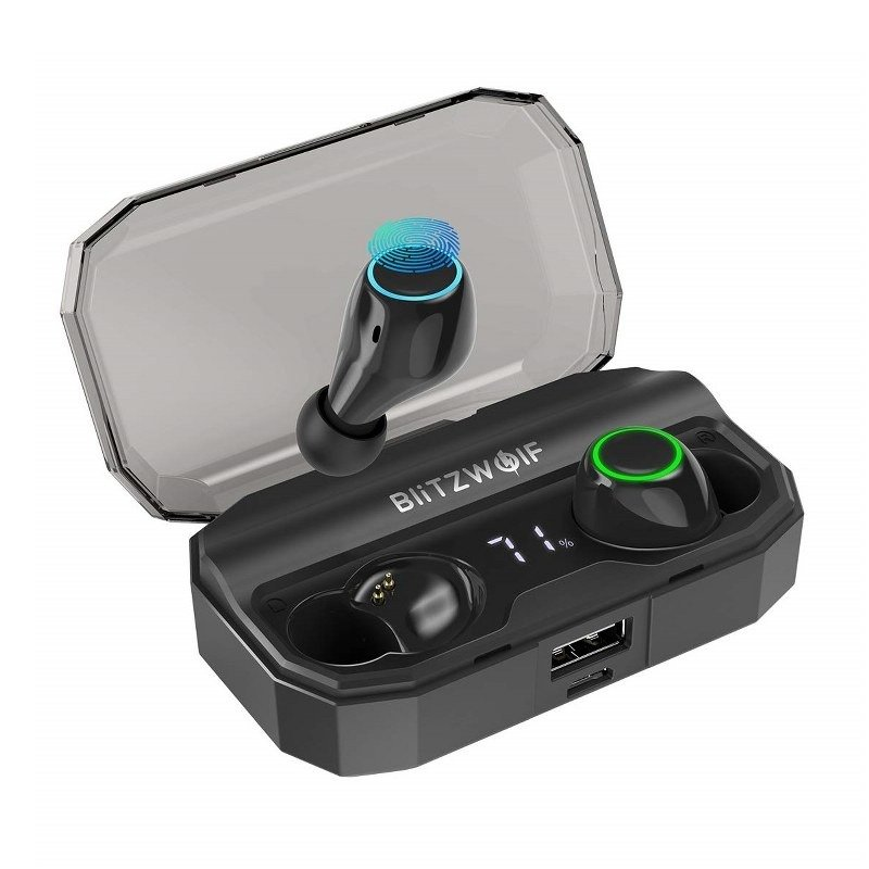 Casti BlitzWolf BW-FYE3S TWS, Wireless, Bluetooth 5.0, Baterie 2600 mAh imagine