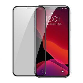 Pachet 2 folii de sticla pentru protectie ecran, Apple iPhone 11 Pro, Privacy Glass, Fumuriu