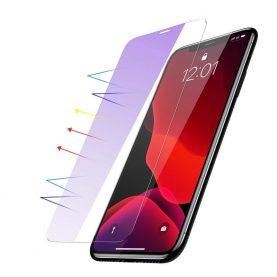 Pachet 2 folii de sticla pentru protectie ecran, iPhone 11 Pro Max, Anti blue-light, 0.3 mm, Transparent