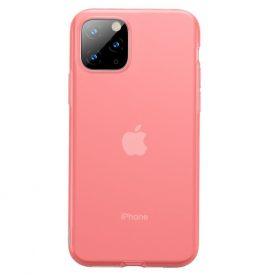 Husa Apple iPhone 11 Pro, Baseus Jelly Liquid, Rosu / Transparent, 5.8 inch