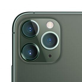 Set 2 folii de sticla pentru protectie camera, iPhone 11 Pro, Transparent, 0.15 mm