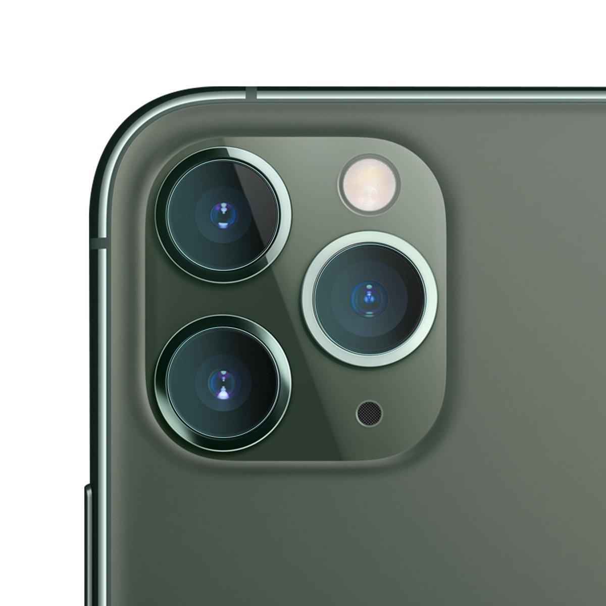 Set 2 folii de sticla pentru protectie camera, iPhone 11 Pro / Pro Max, Transparent, 0.15 mm imagine