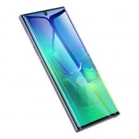 Pachet 2 folii de sticla pentru protectie ecran, Samsung Galaxy Note 10+, Rama neagra, 0.2 mm