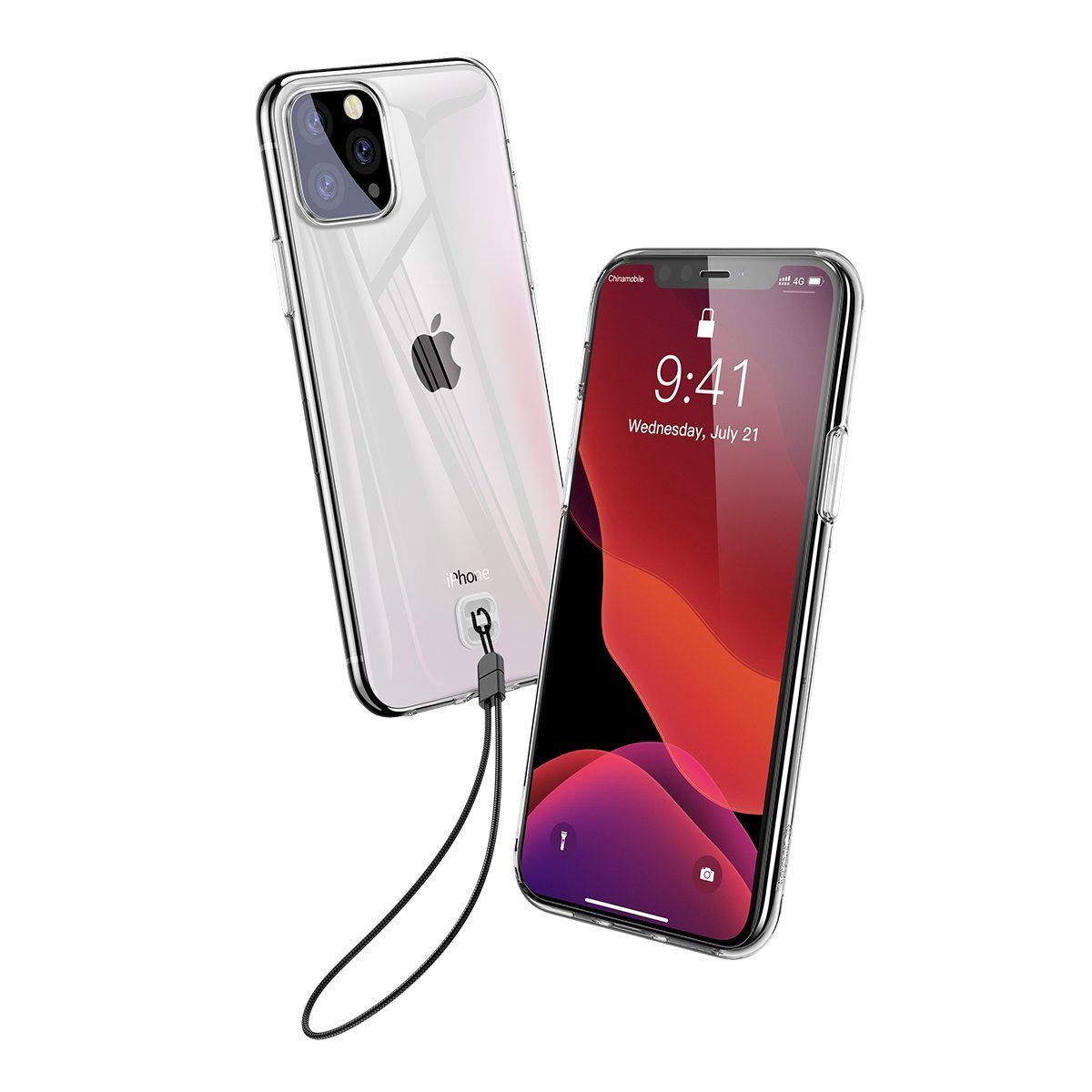 Husa Apple iPhone 11 Pro, Baseus Transparent Key, Alb, 5.8 inch imagine