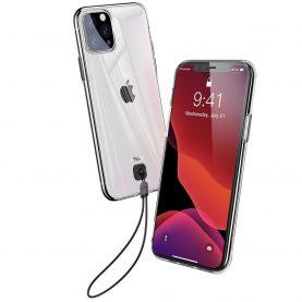 Husa Apple iPhone 11 Pro Max, Baseus Transparent Key, Negru, 6.5 inch