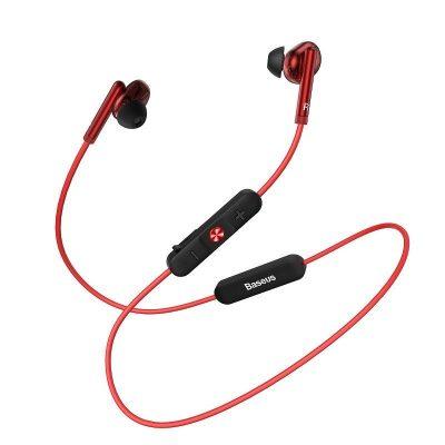Casti in-Ear Baseus Encok S30, Rosu, Bluetooth 5.0, Baterie 100 mAh