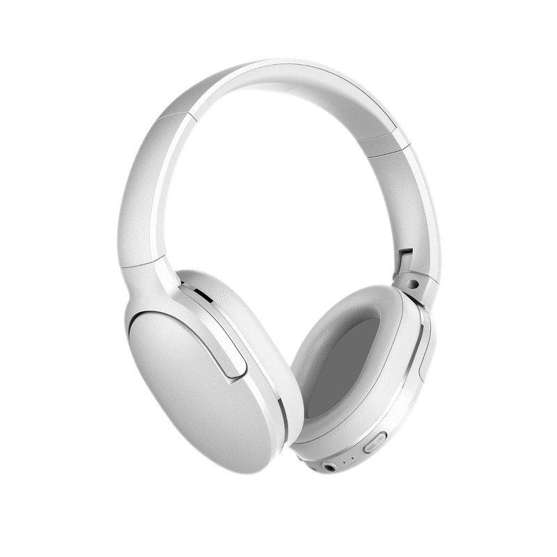 Casti on-Ear Baseus Encok D02, Alb, Wireless, Bluetooth 5.0, Baterie 450 mAh imagine