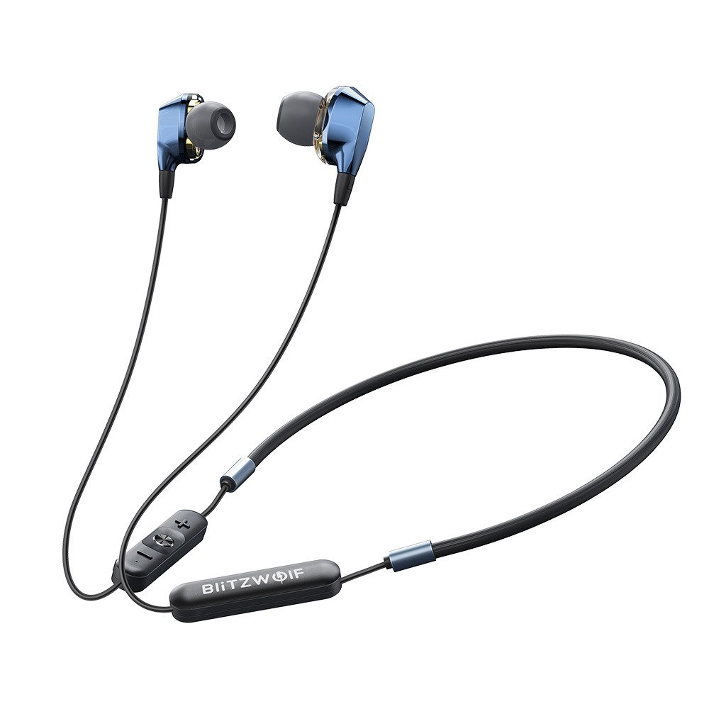 Casti in-Ear BlitzWolf BW-BTS4, Albastru, Bluetooth 5.0, Rezistenta IPX5 imagine