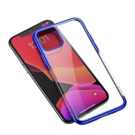 Husa Apple iPhone 11 Pro Max, Baseus Shining Case, 6.5 inch, Transparent / Albastru