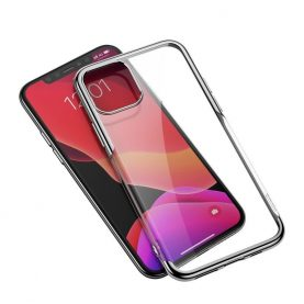 Husa Apple iPhone 11 Pro Max, Baseus Shining Case, 6.5 inch, Transparent / Argintiu