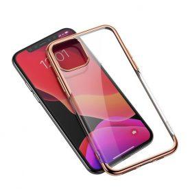 Husa Apple iPhone 11 Pro Max, Baseus Shining Case, 6.5 inch, Transparent / Auriu