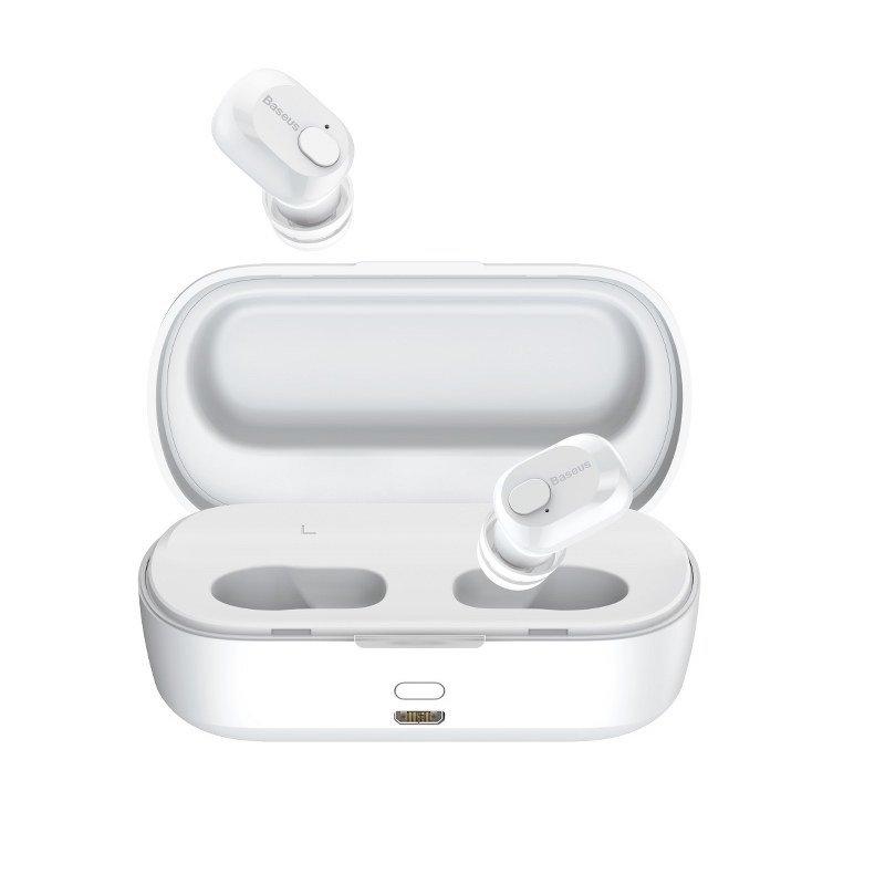 Casti in-Ear Baseus Encok W01, Alb, Wireless, Bluetooth 5.0 imagine