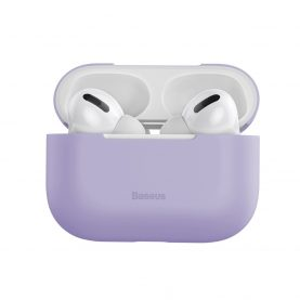 Husa protectie Apple AirPods Pro, Violet, Ultra slim, Silicagel