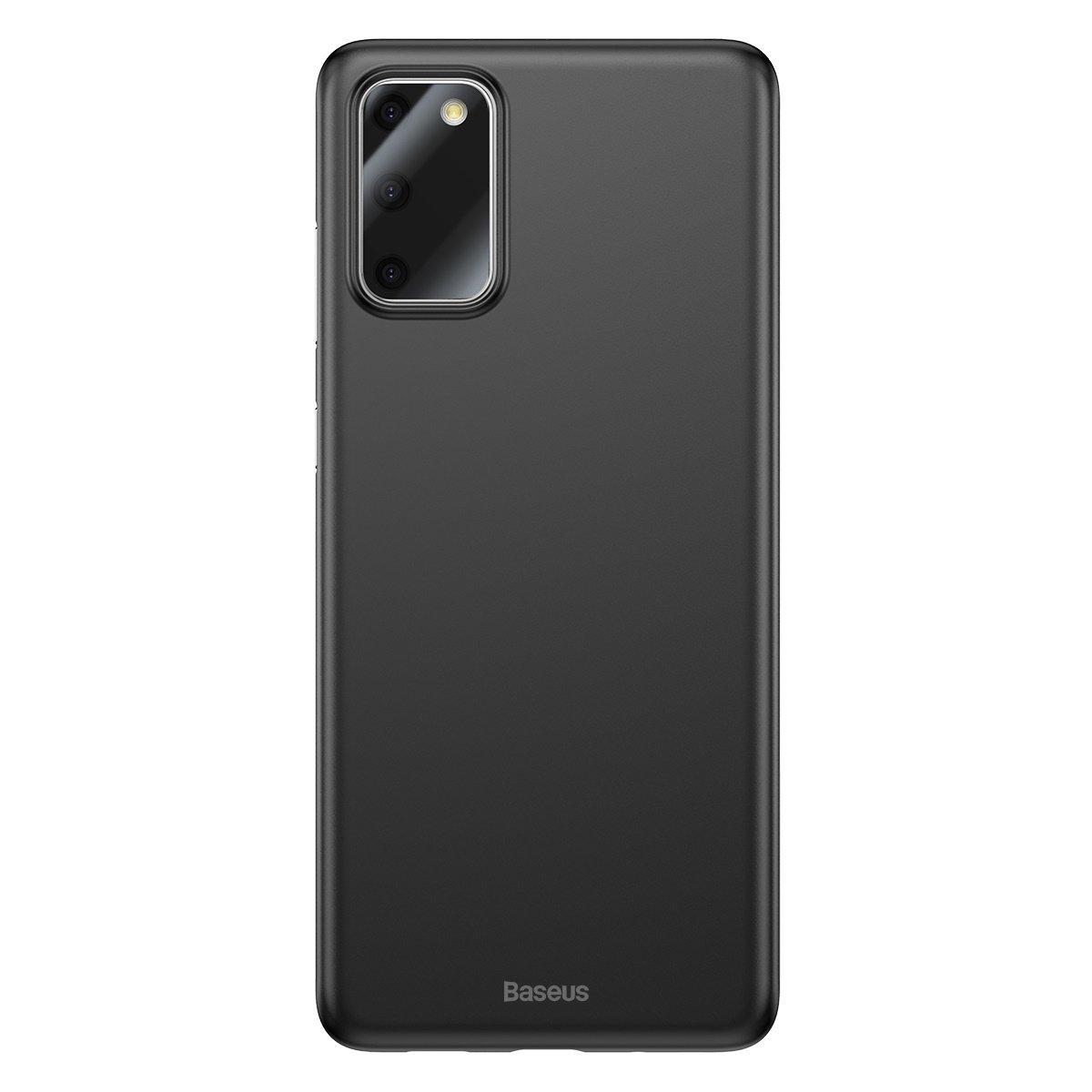 Husa Samsung Galaxy S20, Baseus Wing Case, Negru, Grosime 0.4 mm imagine