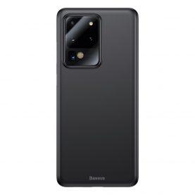 Husa Samsung Galaxy S20 Ultra 5G, Baseus Wing Case, Negru, Grosime 0.4 mm