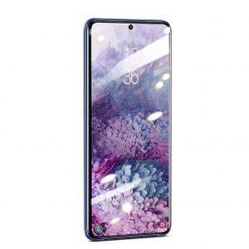 Pachet 2 folii de sticla pentru protectie ecran, Samsung Galaxy S20 Ultra, Transparent & Curbat