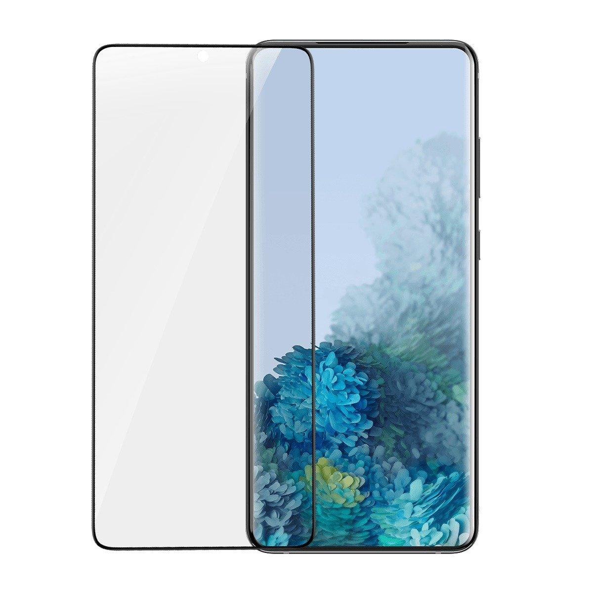 Pachet 2 folii de sticla pentru protectie ecran, Samsung Galaxy S20, Transparent, Grosime 0.15 mm imagine