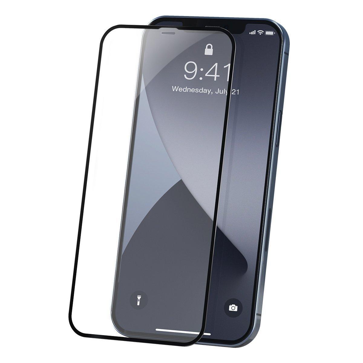Set 2 folii de sticla pentru iPhone 12 Mini, Baseus Tempered Glass, Grosime 0.23mm, 5.4 inch imagine
