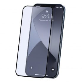 Set 2 folii de sticla securizata pentru iPhone 12 Mini, Margini negre, Grosime 0.23 mm