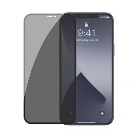 Set 2 folii de sticla pentru iPhone 12 Mini, Privacy Glass, Fumuriu, Grosime 0.3 mm
