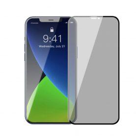 Pachet 2 folii de sticla pentru iPhone 12 Pro Max, Privacy Glass, Fumuriu, 6.7 inch